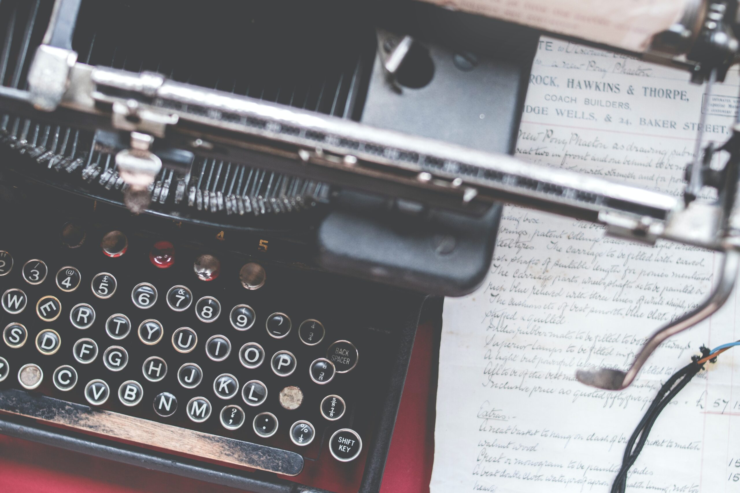 Gammaldags skrivmaskin